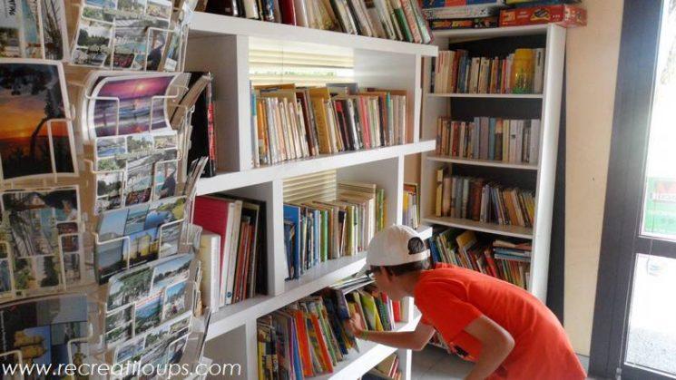 La super bibliothèque du camping
