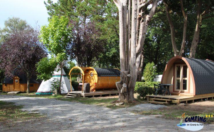 Hébergements insolites au camping